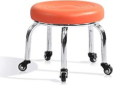 JYHQ Tabouret de bar bas à roulettes 33 x 32 cm,