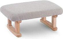 JYHZ Tabouret de canapé carré en bois respirant