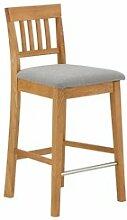 JYSK Chaise de bar HJERTING gris