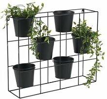 JYSK Support pot fleurs HAVE l17xL64xH52 noir
