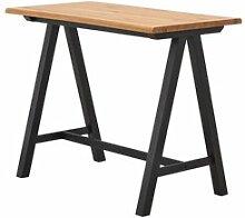JYSK Table de bar SANDBY 71x128 chêne/noir