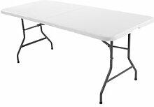 JYSK Table pliante KULESKOG 75x180 blanc