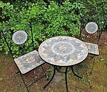 K&L Wall Art 2X chaises mosaïque et Table de