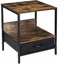 Kamiler Table de chevet industrielle avec tiroir