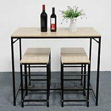 Kangfun-Ensemble à manger 1 table et 4 chaises