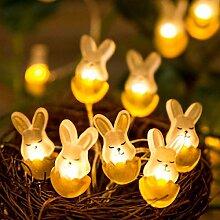 Kansang Guirlande lumineuse 30 LED lapin pour