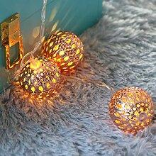 Kansang Guirlande lumineuse à 20 LED rondes pour