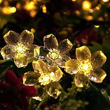 Kansang Guirlande lumineuse solaire avec 50 LED en