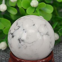 KAPU - Boule de cristal en howlite blanche - 3 cm
