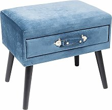 Kare Tabouret Design Drawer - Bleu