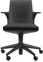 Kartell Spoon chair fauteuil pivotant Moderne Noir