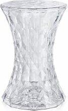 KARTELL tabouret STONE (Cristal - Transparent ou