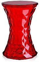 KARTELL tabouret STONE (Rouge - Transparent ou