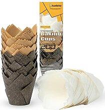 katbite Caissettes Cupcake 200pcs Tasses de Papier