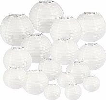 Katigan Paquet de 25 Lanternes en Papier Blanc de