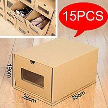 KATLY Boîte à Chaussures en Papier Kraft