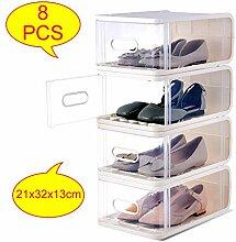KATLY Boîte à Chaussures en Plastique 8pcs,