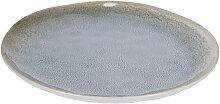 Kave Home - Assiette plate Sachi bleu clair