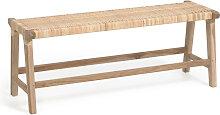 Kave Home - Banc Beida bois massif de tek 120 cm