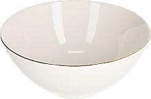 Kave Home - Bol grand Taisia en porcelaine blanc