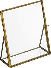 Kave Home - Cadre photo Alliana 14 x 16 cm doré