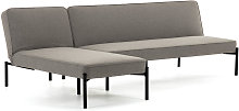 Kave Home - Canapé-lit avec méridienne Nelki gris