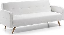 Kave Home - Canapé-lit  Roger 210 cm blanc