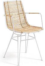 Kave Home - Chaise avec accoudoirs Tishana en