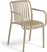 Kave Home - Chaise de jardin Isabellini beige