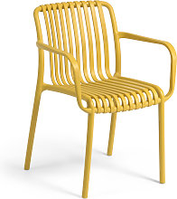 Kave Home - Chaise de jardin Isabellini moutarde