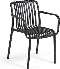 Kave Home - Chaise de jardin Isabellini noire