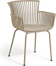 Kave Home - Chaise de jardin Surpika beige