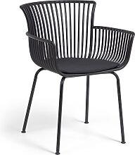 Kave Home - Chaise de jardin Surpika noire