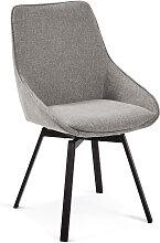 Kave Home - Chaise pivotante Jenna gris clair