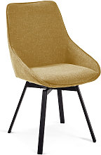 Kave Home - Chaise pivotante Jenna moutarde
