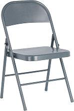 Kave Home - Chaise pliante Aidana en métal gris