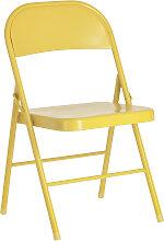 Kave Home - Chaise pliante Aidana en métal