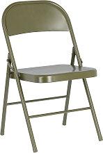 Kave Home - Chaise pliante Aidana en métal vert