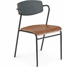 Kave Home - Chaise Zaha bois noyer