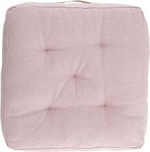 Kave Home - Coussin de sol Sarit 100% coton rose