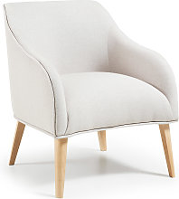 Kave Home - Fauteuil Bobly beige
