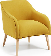 Kave Home - Fauteuil Bobly moutarde