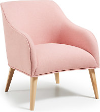 Kave Home - Fauteuil Bobly rose