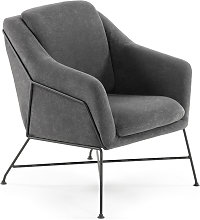 Kave Home - Fauteuil Brida graphite