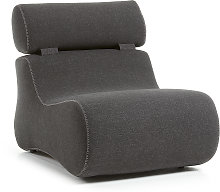 Kave Home - Fauteuil Club graphite