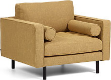 Kave Home - Fauteuil Debra moutarde