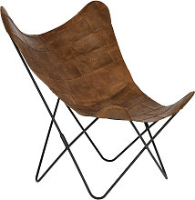 Kave Home - Fauteuil Fly cuir patchwork