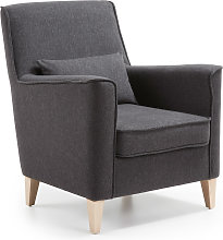Kave Home - Fauteuil Glam graphite