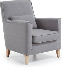 Kave Home - Fauteuil Glam gris