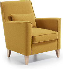 Kave Home - Fauteuil Glam moutarde